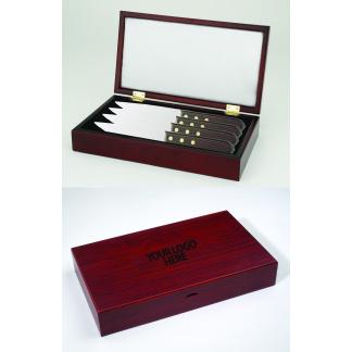 Steak Knife Set with Wood Box
