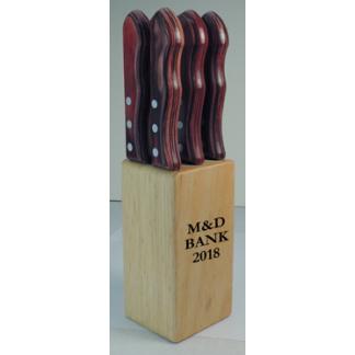 Steak Knife Set in Wood Block